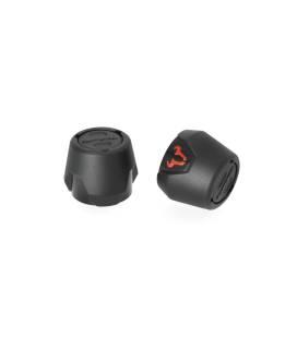 Roulettes de protection pour bras oscillant Noir. KTM 1050/1090/1190 Adv, 1290 SAdv.