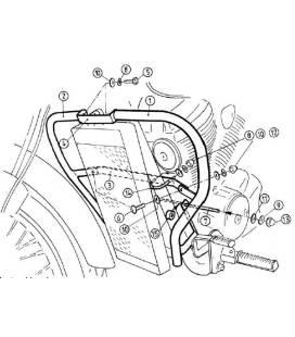 Protection moteur VT 750 D2 Black Widow - Hepco-Becker 501918 00 02