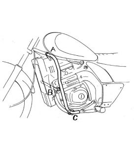 Protection moteur Kawasaki EL 250 / EL 252 - Hepco-Becker 501206 00 02