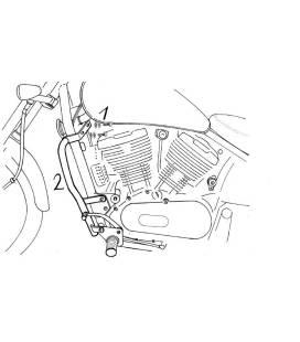 Protections moteur Kawasaki VN 800 - Hepco-Becker 501208 00 02