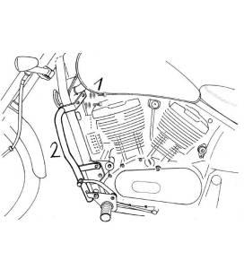 Protections moteur Kawasaki VN 800 Classic - Hepco-Becker 501211 00 02