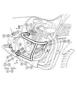 Protection moteur Kawasaki ZR-7 / Hepco-Becker 501216 00 02