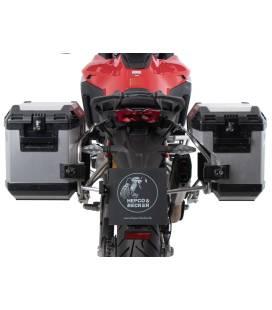 Kit valises Ducati Multistrada V4 - Hepco-Becker Xplorer Alu