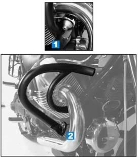Protection moteur Guzzi C 940 Bellagio /Aquila Nera - Hepco Chrome