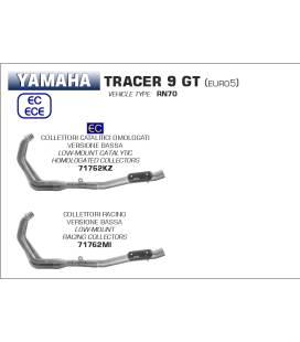 Collecteur homologué Yamaha Tracer 9 GT - Arrow 71762KZ