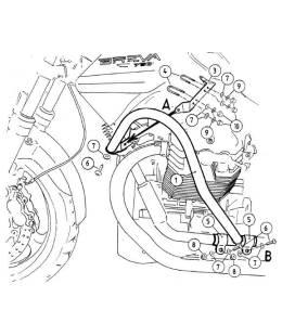 Protection moteur Moto-Guzzi Breva V750 ie (2003-2013) / Hepco-Becker Noir