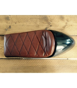 SELLE CAFE RACER CHOCOLAT BROWN TYPE 40 L : 60cms