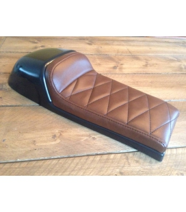 SELLE CAFE RACER CHOCOLAT BROWN TYPE 39 L : 60cms