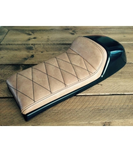 SELLE CAFE RACER SEAT VINTAGE BROWN TYPE 23 L : 60cms