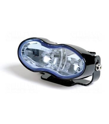 optique de phare antibrouillard shin yo noir lentille bleue. Black Bedroom Furniture Sets. Home Design Ideas