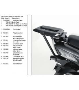 SUPPORT TOP-CASE HEPCO-BECKER ALURACK ZZR1400 -2011