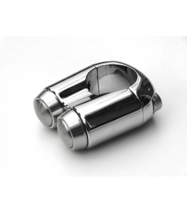 Commodo Motone 2 Boutons 25,4mm ( 1 Pouce ) Chrome
