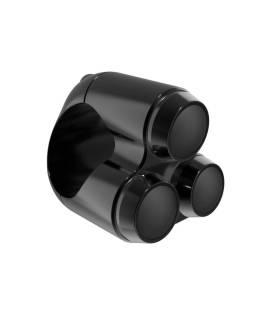 Commodo Motone 3 Boutons 22mm Noir