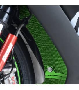 Protection de radiateur vert Kawasaki ZX-10R