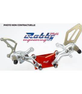 Commandes reculées Kawasaki ZX-6R 05-06 / Robby Moto SBK