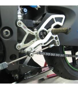 Commandes reculées Kawasaki ZX-6R 07-12 / Robby Moto Race