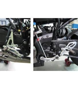 Commandes reculées Yamaha MT-07 et XSR700 / EVO Argent